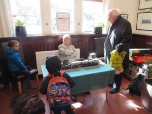 On 16th May, Dugald Cameron displayed some of his collection of model trains, which attracted some admirers, young and not so young.