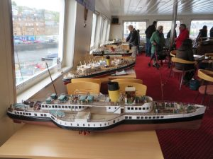 Some of the ship models displayed on M.V. Bute on 16th May 2015