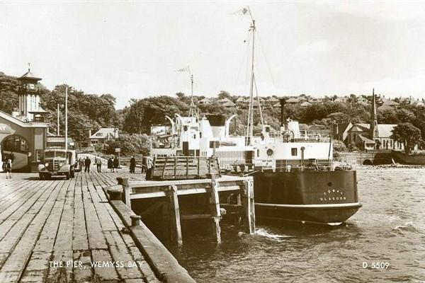 M.V. Cowal at Wemyss Bay (1950s)