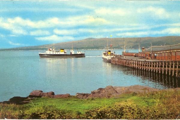 M.V. Cowal and a Maid at Wemyss Bay Pier