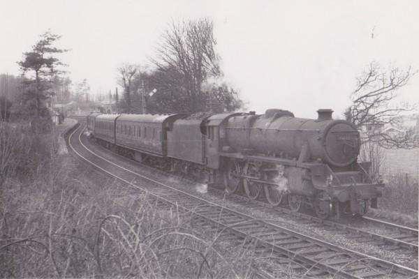 Steam still supreme, leaving Inverkip Station 1965